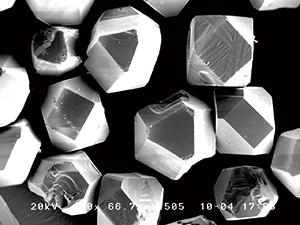 図9:自発核発生で生成したダイヤモンド粒
