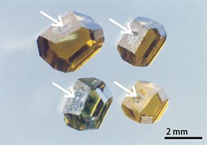 図13:成長したダイヤモンドの結晶の例