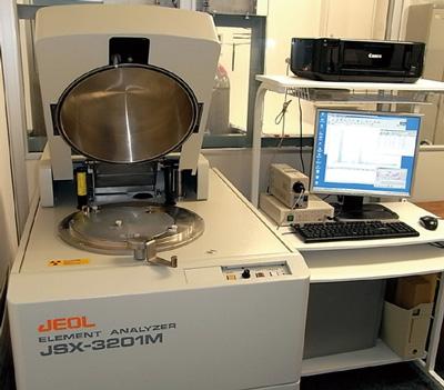 Fig.2 蛍光X線分析装置 日本電子製JSX-3201M