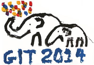 象が描いたGIT2014のロゴマーク