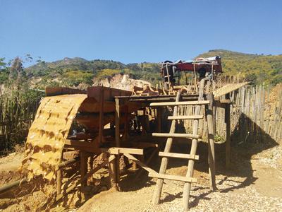 機械による選鉱