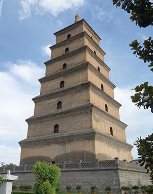 唐の時代に建設された大雁塔