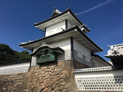 石川県金沢市のシンボル、金沢城石川門