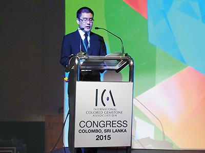 ICA Congressで発表を行う江森所員