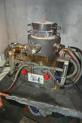 加熱に使用するガス炉