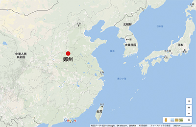 Fig.2中国河南省鄭州市の位置