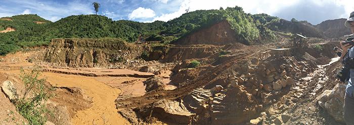 図15.Baw Mar, Kyauk Sound鉱山全景