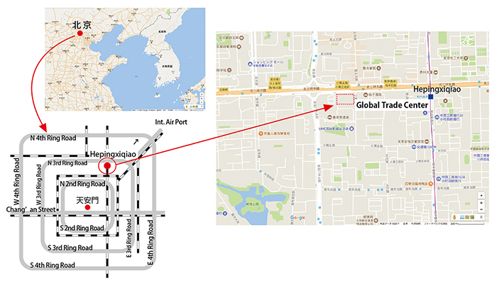 図2.北京市とNGTC周辺の地図