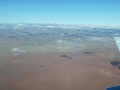 ナミビアに広がるナミブ砂漠