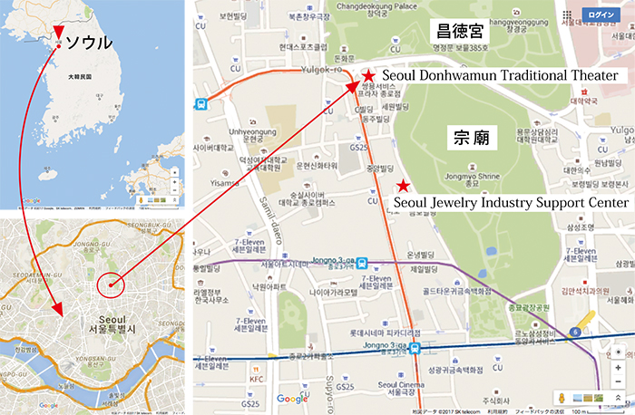 図2:会場周辺の地図