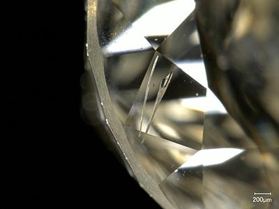 写真3:針状の金属包有物