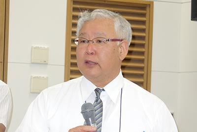 写真2 特別講演中の清水正明教授
