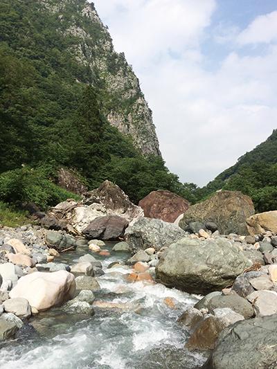 図3:糸魚川の小滝地区のヒスイ産出地