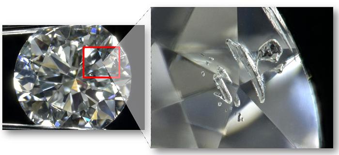 図19:HPHT合成ダイヤモンド中の金属inc.