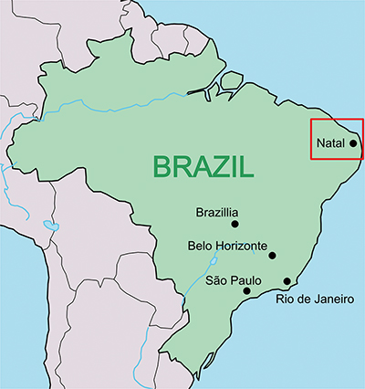 図2 − a ブラジルの地図