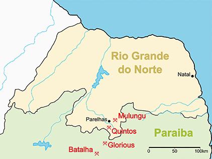 図2 − b 鉱山の位置
