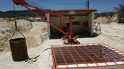 図8:エイト-氏鉱区の縦坑入り口(酒巻英樹氏提供)