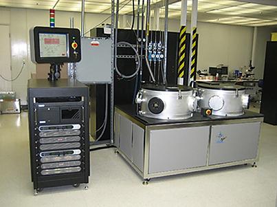 図4.熱フィラメント装置の例 − SP3社の装置_横張り