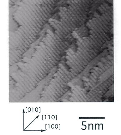 図6 − b)STMによるエピ成長表面