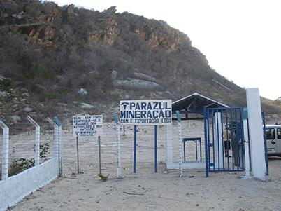 図10:ハニアリー氏の鉱区入り口
