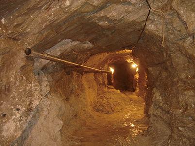 図11:ハニアリー氏の鉱区の坑道