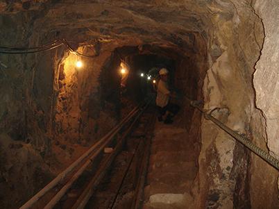 図18:キントス鉱山の坑道