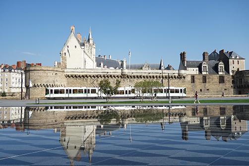 フランス、ナントのシンボルの1つ、ブリュターニュ大公城