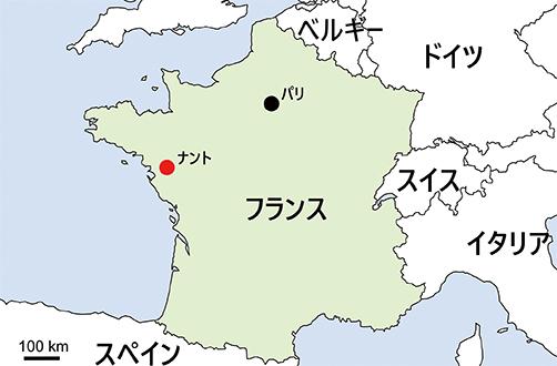 フランス、ナントの位置