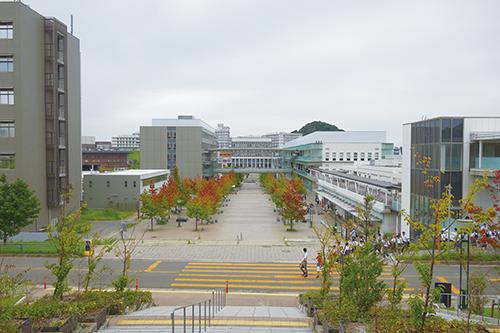 広大な敷地を有する九州大学伊都キャンパス