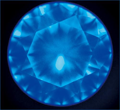 図12 . Ⅱ型天然ダイヤモンドのDiamondViewTM像の一例。細かなドット状の模様が認められる