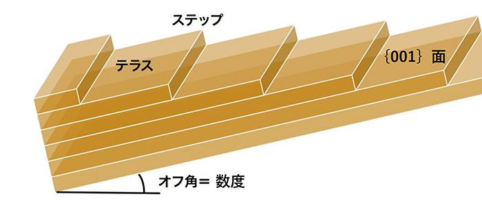 図20. CVD法合成ダイヤモンドのステップフロー成長の概念図