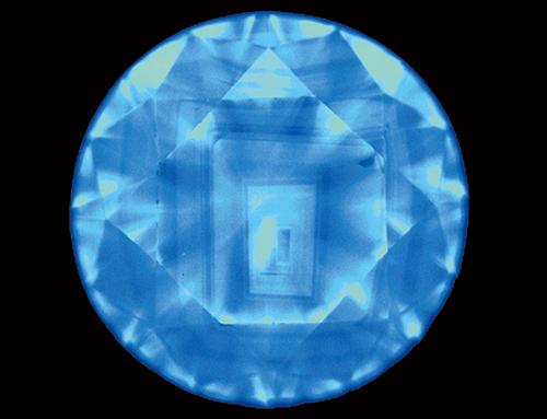 図5. 天然ダイヤモンドのDiamondViewTM像に一般的な閉じた四角形の累帯構造