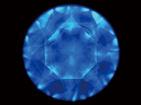 図7. Mixed–habit Growthを示す天然ダイヤモンド のDiamondViewTM像