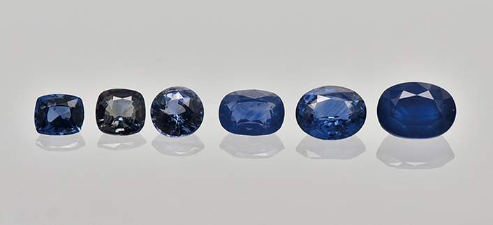 HT+P treated sapphires. Photo: SSEF.
